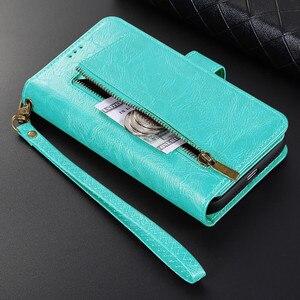 Image 1 - Luxury Detachable Leather Wallet Phone Case for iPhone 12 Pro Max Cover Mini 11 SE 2020 Xr X Xs 8 7 Plus 6 6s Zipper Flip Bumper