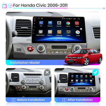 Junsun V1 2G+32G Android 10.0 DSP Car Radio Multimedia Video Player For Honda Civic 8 2005-2011 Navigation GPS No 2din 2 din dvd