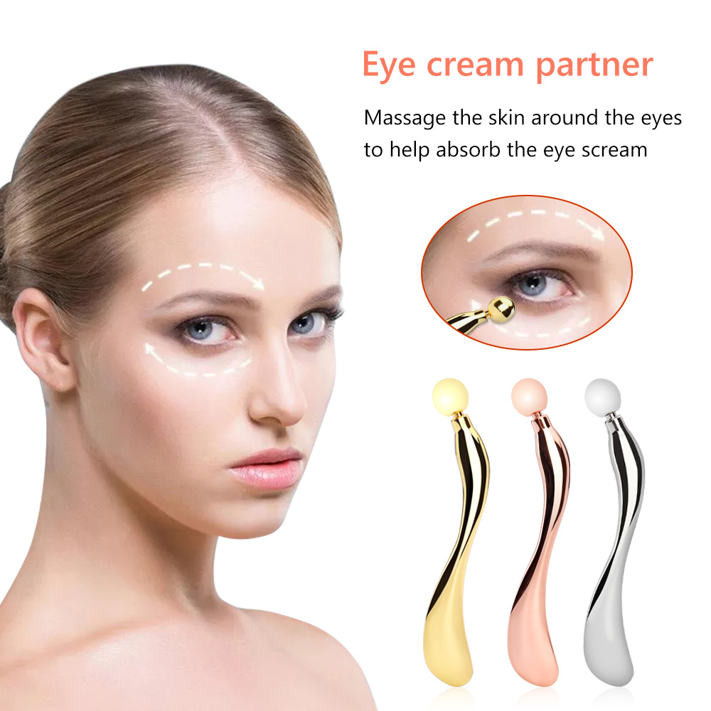 Mermaid Shape Metal Divided Scoop Eye Cream Applicator Eye Massage Stick Anti Eye Pouch Dark Circles Wrinkle Massager Eyes Care