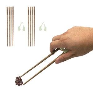Image 3 - Palillos de entrenamiento antideslizantes que ayudan a comer individualmente