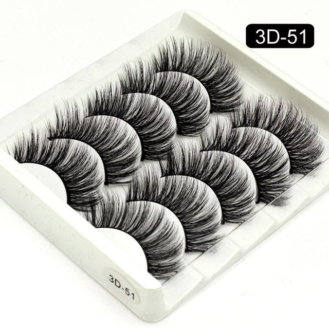 5 Packs False Eyelashes Extension Faux Cils 3D Mink Lashes Long Thick 15mm Natural Eye Lash Makeup Tools Wispy Lashes Wholesale 3
