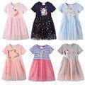 Платье для девочек, Летнее Детское платье, платье для маленьких принцесс, ТРАПЕЦИЕВИДНОЕ хлопковое детское платье, детское летнее платье дл...