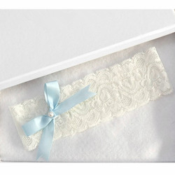 Blue Bowtie Lace Wedding Garter Toss Garter Wedding Garter Belt Bridal Lingerie White Garter Wedding Accessories
