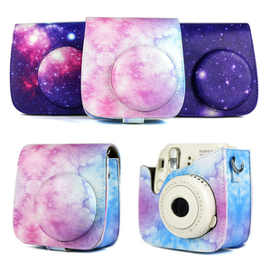 Image 4 - Shoulder Camera Protective Case Colorful Patterns Leather Camera Bag For Fujifilm Instax Polaroid Mini 8/ Mini8+/ 9 Handbags