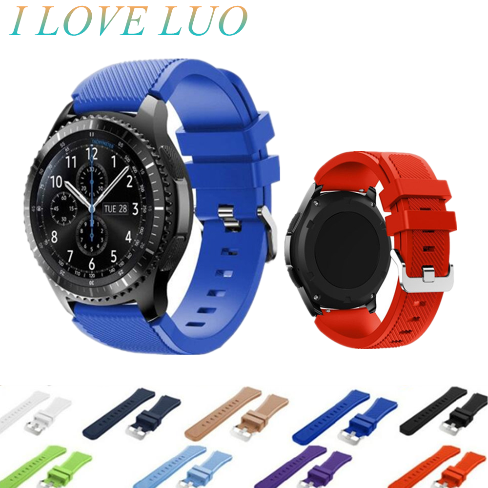 Gear S3 Strap For Samsung Galaxy Watch 46mm 42mm S3 Frontier/classic 22mm Watch Band Silicone Bracelet Huawei Watch Gt Strap