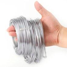 Produção de joias de fio de alumínio para diy, produção de joias de 1mm/1.5mm/2mm/2.5mm contas banhadas de ouro do fio do artesanato