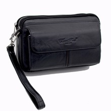 Genuine Leather Men Clutch Wallets Real Skin Business Clutch Bags Zipper Wallet Coin Purse Male Cowhide Handy bag Phone Pouch