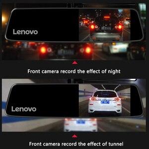 Image 4 - Oryginalny Lenovo Dash Cam podwójny obiektyw lusterko wsteczne kamera Night Vision Dashcam rejestrator wideo ustawienia tablic rejestracyjnych IPS Car DVR