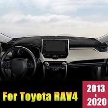 Toyota için RAV4 2013 2016 2017 2018 2019 2020 LHD/RHD araba Dashboard kapak Mat önlemek ışık pedleri anti UV kılıf halı aksesuarları