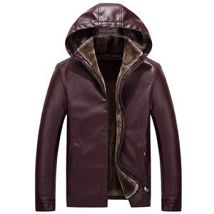 Image 3 - FGKKS Fashion Men Leather Jackets Coat Autumn Winter Male Hooded Warm PU Jackets Coats Mens Faux Jacket Overcoat