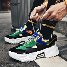 SHOFORT Men Shoes Fashion Casual Sneakers Dad Footwear