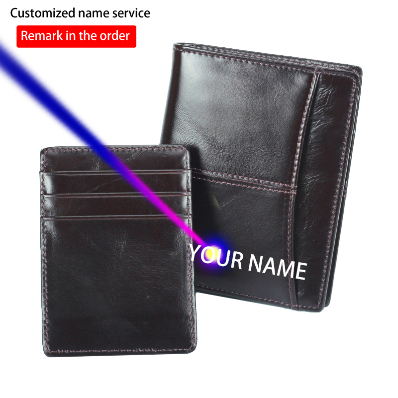 Quality Purse Cattle Male Genuine Leather Design Multifunction Standard Vertical Wallet With Removable Card Case For Men 7703-d