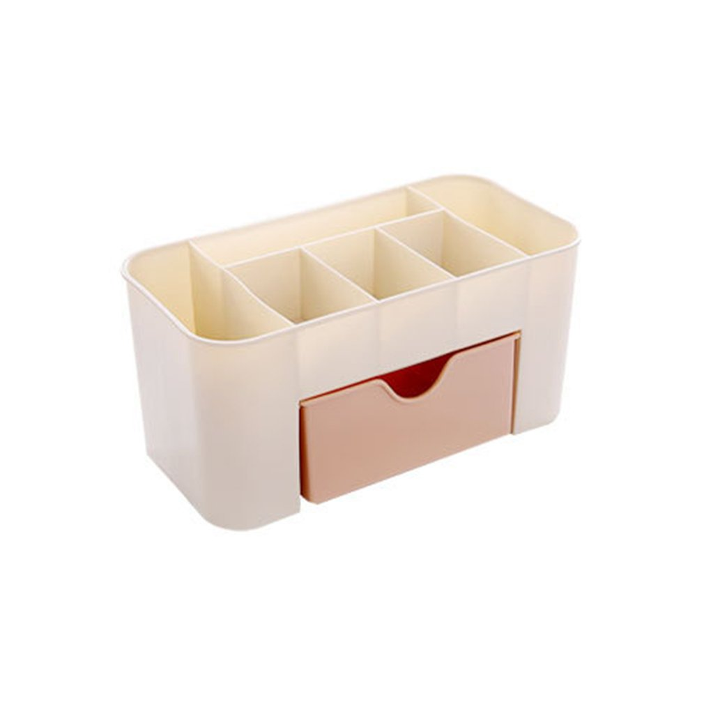 Cosmetic Jewelry Storage Drawer Durable Plastic Makeup Brush Box Home Office Remote Control Lipstick Holder