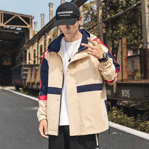 Yasword New autumn Jacket Men 2019 Loose Jackets Hooded windbreaker Fashion High Quality Coats Karachi