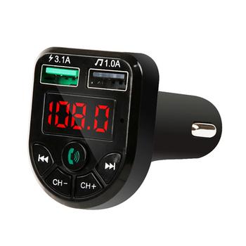 Ładowarka USB akcesoria samochodowe zestaw głośnomówiący podwójna ładowarka samochodowa USB odtwarzacz MP3 karta TF zestaw głośnomówiący Bluetooth 5 0 odbiornik tanie i dobre opinie VODOOL CN (pochodzenie) USB Charger 12 v 7 7x4 5x3 5cm Calling Adapter Car Kit 12-24V V5 0+EDR 20Hz-20kHz -42dB±3dB 45mA Max