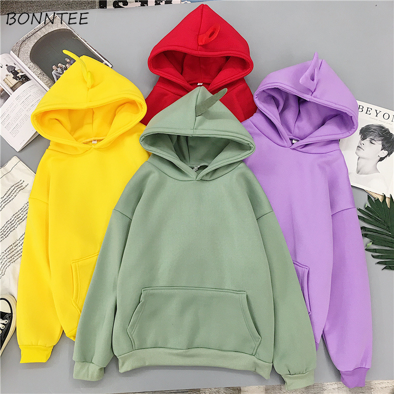 Hoodies Women All-match Elegant Trendy Long Sleeve Hooded Womens Korean Style School Students Kawaii Females Sweatshirts Chic