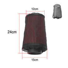 Black car Engine Cold Air Intake Pre Filter Conical Cover Waterproof dustproof Mesh protector