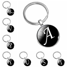 Heat! 2019 New Classic Glass Cabochon Letter Pattern Fashion Popular Key Ring Accessories Gift  From The Batch