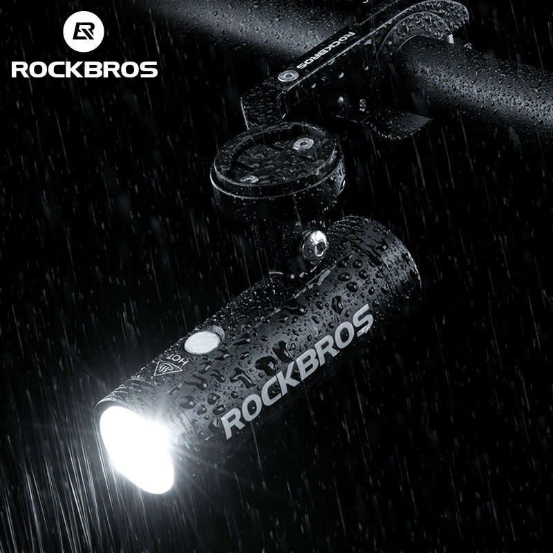 ROCKBROS Head Front Light USB Rechargeable Waterproof LED Cycling Light US Stock