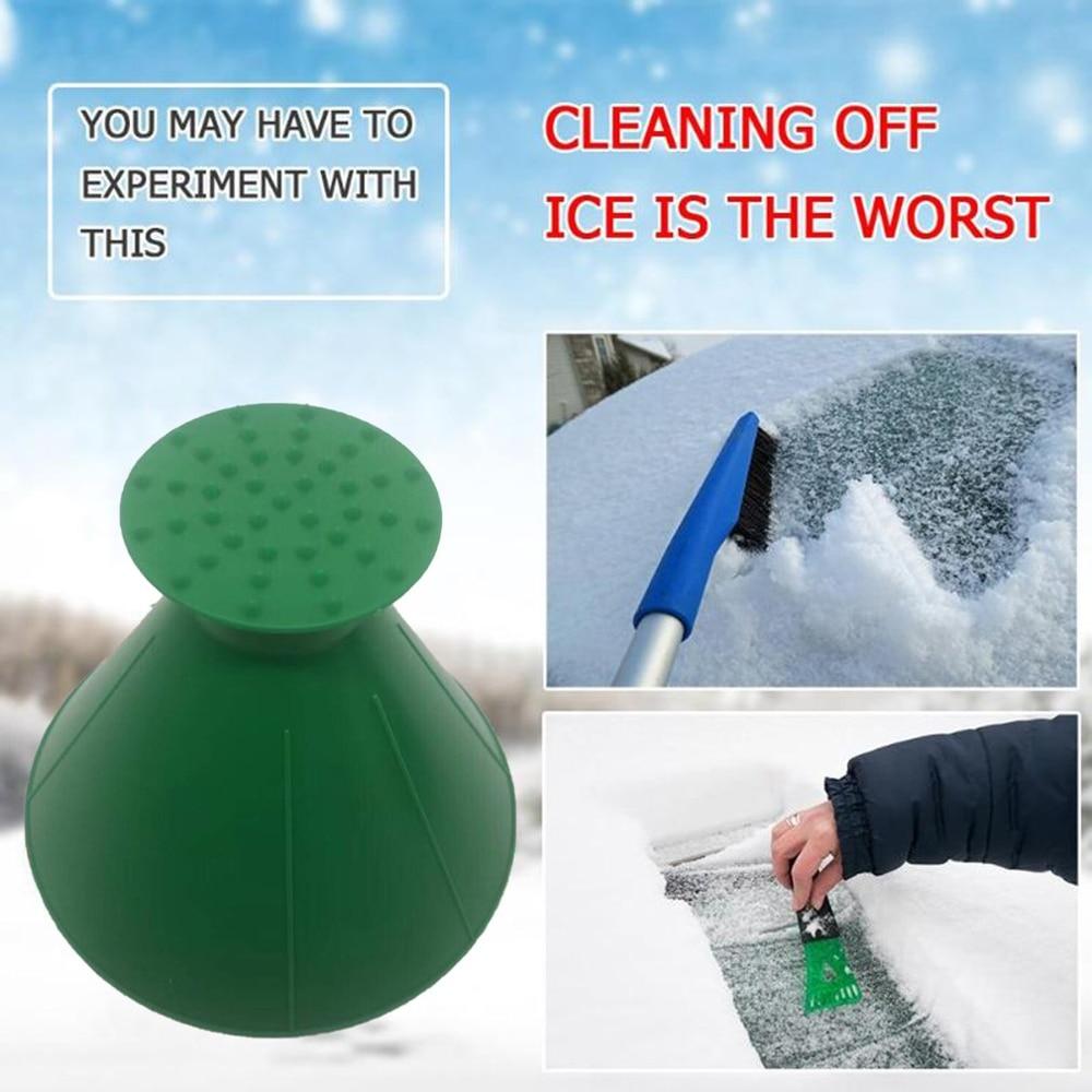 Cone quente brisa balde de gelo funil raspador de vidro do carro cone removedor neve prática ferramenta limpeza pá gelo