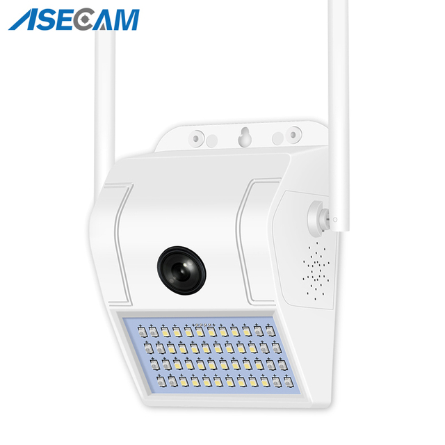 1080P sans fil IP caméra applique sécurité extérieure bidirectionnelle Audio projecteur couleur Vision nocturne Wifi caméra V380 1