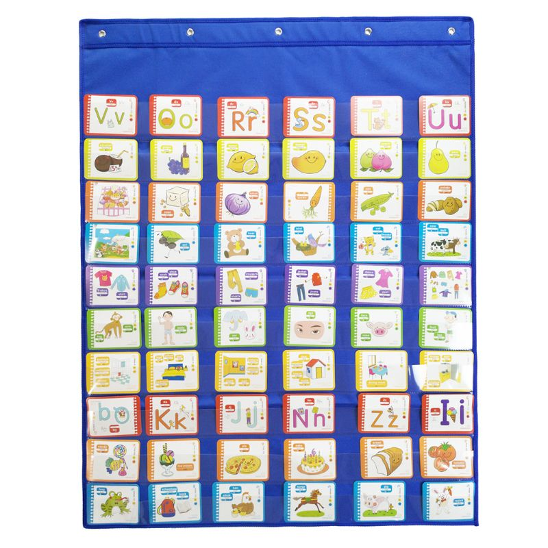 Classroom Pocket Chart With 6 Hooks Standards Daily Schedule For Office Activity