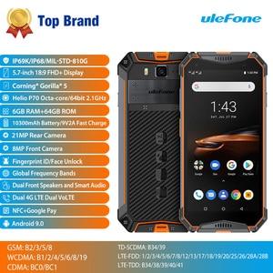 Image 2 - Смартфон Ulefone Armor 3W защищенный, Android 9,0, IP68, 5,7 дюйма, Helio P70, 6 + 64 ГБ, 10300 мА · ч, 4G, Android