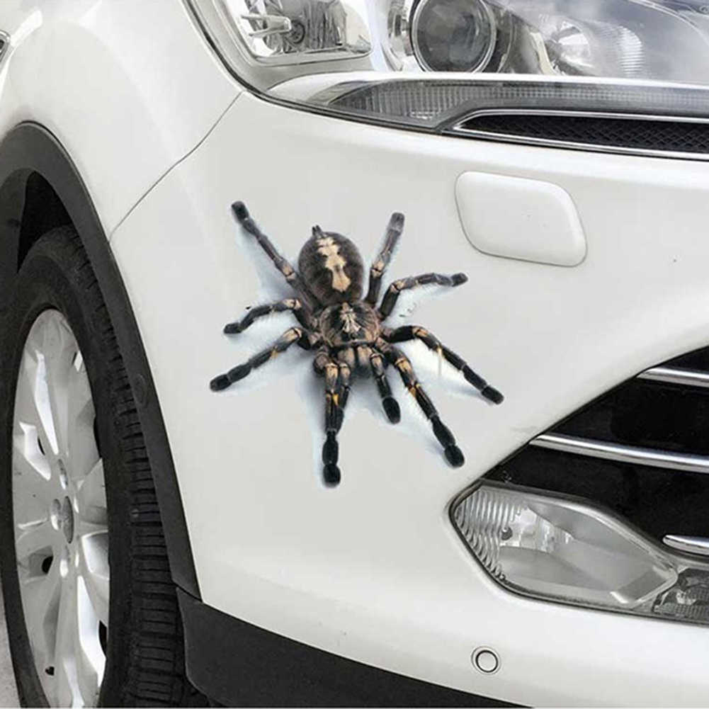3D 스파이더 도마뱀 전갈 자동차 스티커 3D 동물 패턴 차량 창 미러 범퍼 데칼 장식 방수 높은 stickiness