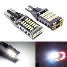 1pc T15 W16W LED 921 912 Super Bright 30 SMD 4014 LED Canbus No ERROR Car Backup Stop Reserve Lights Bulb Brake Lamp White 12V