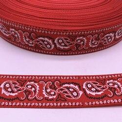 5yards 25mm 38mm ruban gros-grain rouge imprimé goutte d'eau pour noël mariage décoration bricolage couture artisanat #04