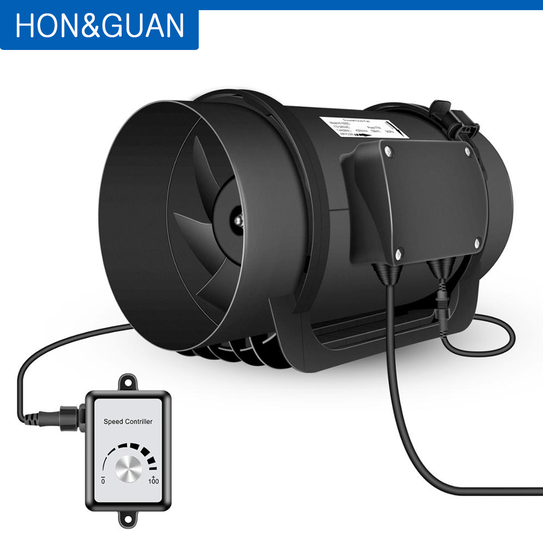 """4/"""" 6/"""" 8/"""" Inch Inline Duct Fan Ventilation Exhaust Plastic Fan w//Speed Controller"""