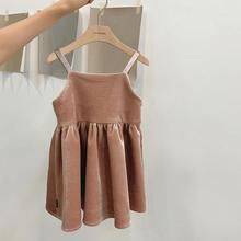 Г. Корейский стиль, вельветовое утепленное платье для девочек модные осенне-зимние платья-майки для девочек от 1 до 6 лет, HH659