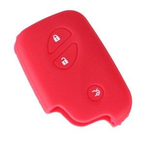 Image 5 - KEYYOU silikonowa obudowa na kluczyk samochodowy klucz skrzynki pokrywa dla Lexus CT200h ES 300h IS250 GX400 RX270 RX450h RX350 LX570 klucz nakładka na klucz