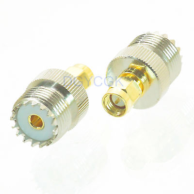 DHL/EMS 50 Pcs Conversion Adapter SO239 UHF Female To SMA Male Connector For Communication -h2