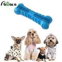 Perro cepillo de dientes palo perros masticar juguetes dientes cepillar la boca de limpieza de silicona Dental Cuidado Oral palo de hueso Pet Molar juguete para cachorro