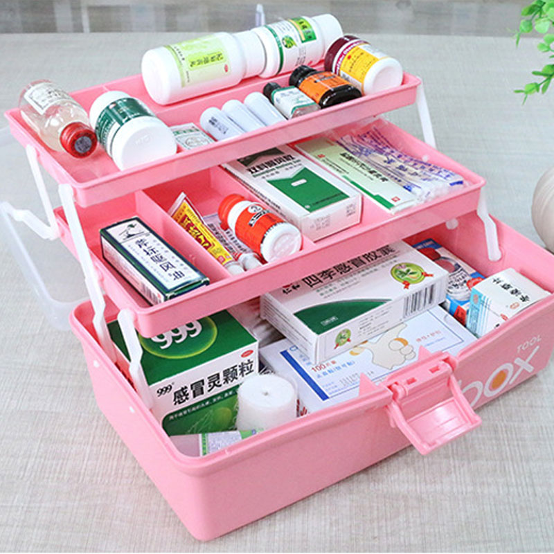 2020 Medicine Box Medicine Box Extra Large Household Plastic Baby Portable Emergency Medical Box In Student Dormitory