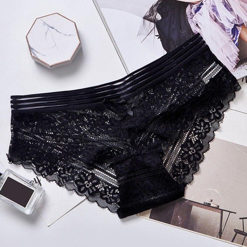 Womens underwear briefs sexy women\'s panties full transparent lace seamless sexy women cotton underwear panty 1 Piece