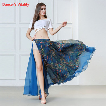 New Fashion Women Dance Clothes Belly Dance Costume Set short Sleeves Spandex Top and Long Skirt 2pcs