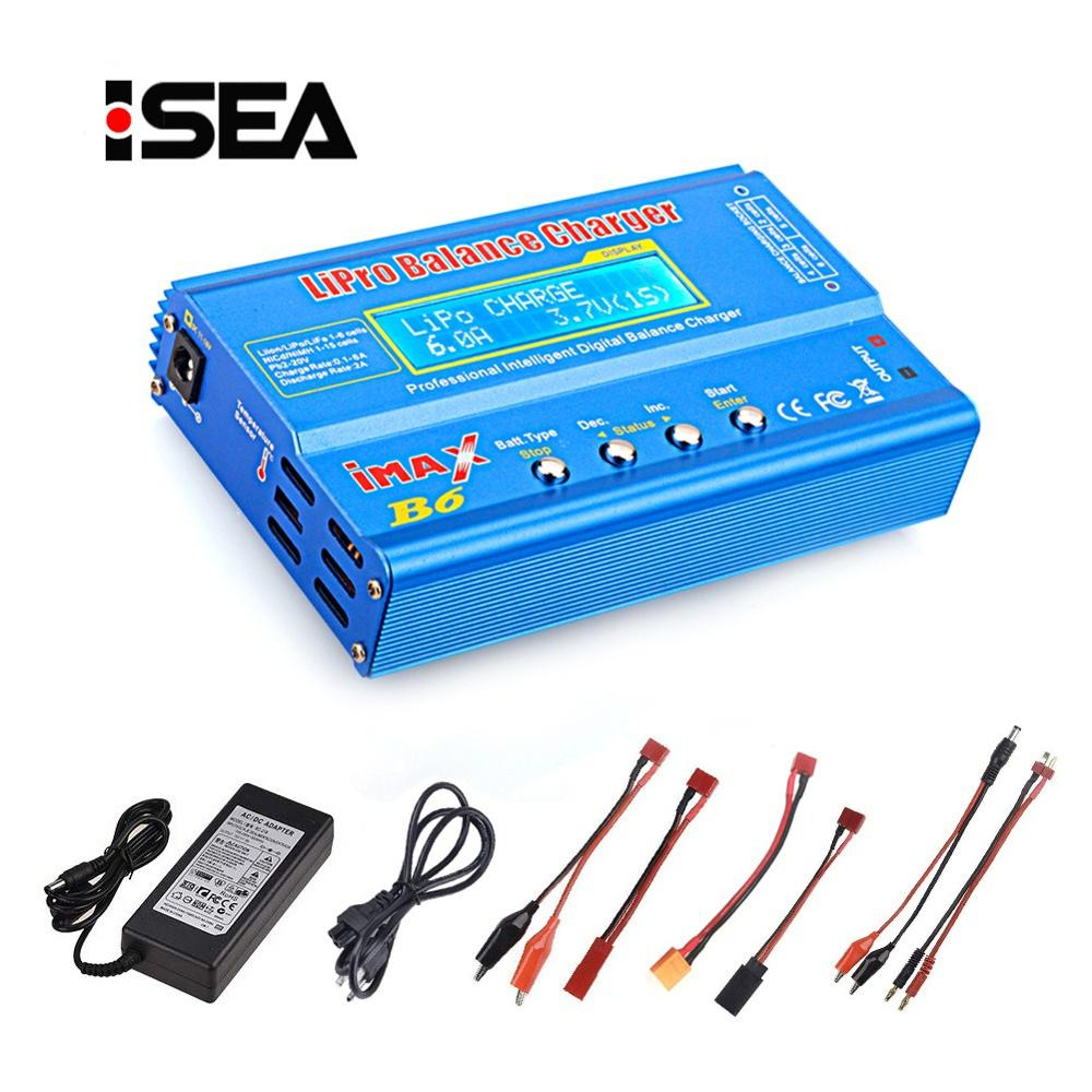 HTRC Lipo Charger imax b6 80W Battery Charger Discharger For Lipo NiMh Li ion Ni Cd Digital RC Balance Charger + 15V 6A Adapter|imax b6|imax b6 80wbattery balance charger - AliExpress
