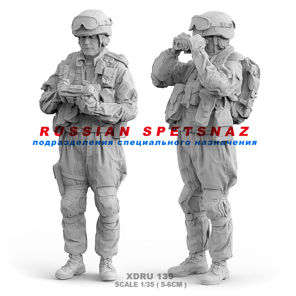 1/35(5Cm)  Resin Figure Kits Modern Russian Army 2 Resin Soldiers XDUR 139