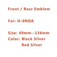 Alta qualidade acrílico preto prata vermelho 3d h logotipo cabeça dianteira do carro capô emblema traseiro cauda tronco boot marca emblema estilo