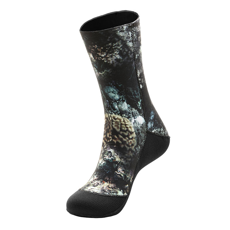 1 Pair 5mm Swimming Boot Socks Scuba Wetsuit Neoprene Diving Socks Prevent Scratches Warming Snorkeling Socks