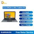 Heiße Verkäufe 11,6 ZOLL 4GB DDR + 128GB Windows 10 Tablet PC NC01 CPU 8300 Mit Pin Docking tastatur HDMI-Kompatibel Dual Kameras WIFI