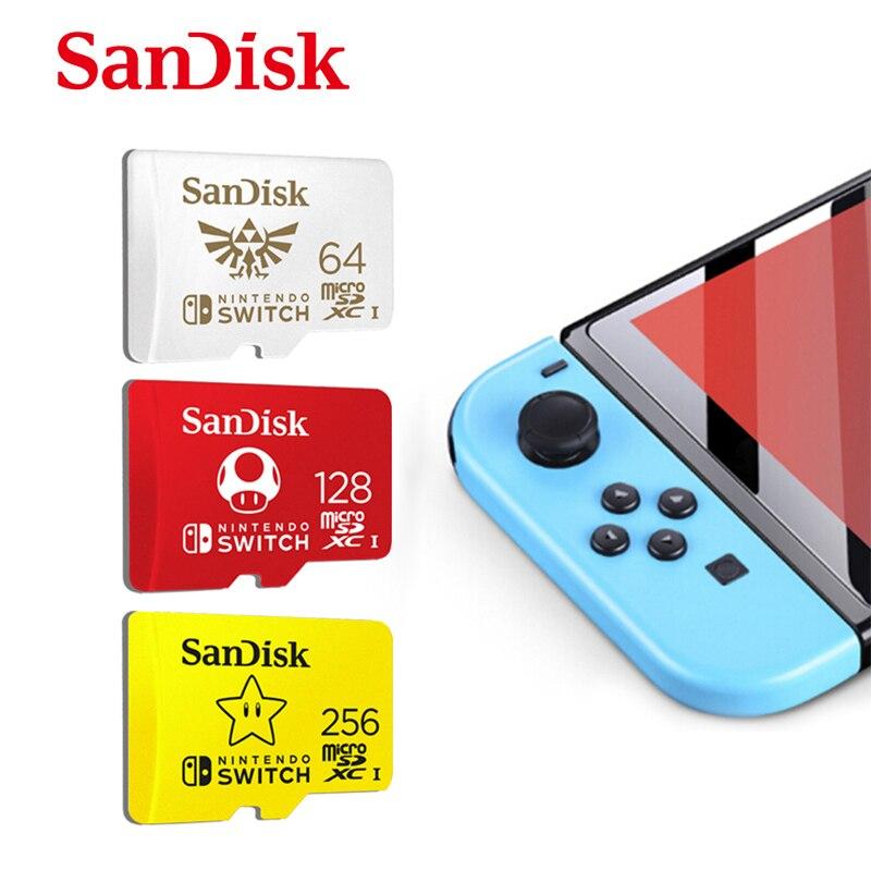 Tarjeta micro sd SanDisk de 128GB, tarjeta Nintendo Switch autorizada de 64GB 256GB, tarjeta de memoria tf para tarjeta de expansión de juegos