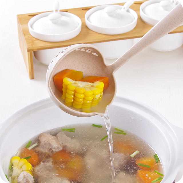 Long Handle Kitchen Utensil Strainer Plastic Tableware Strainer Kitchen Accessories