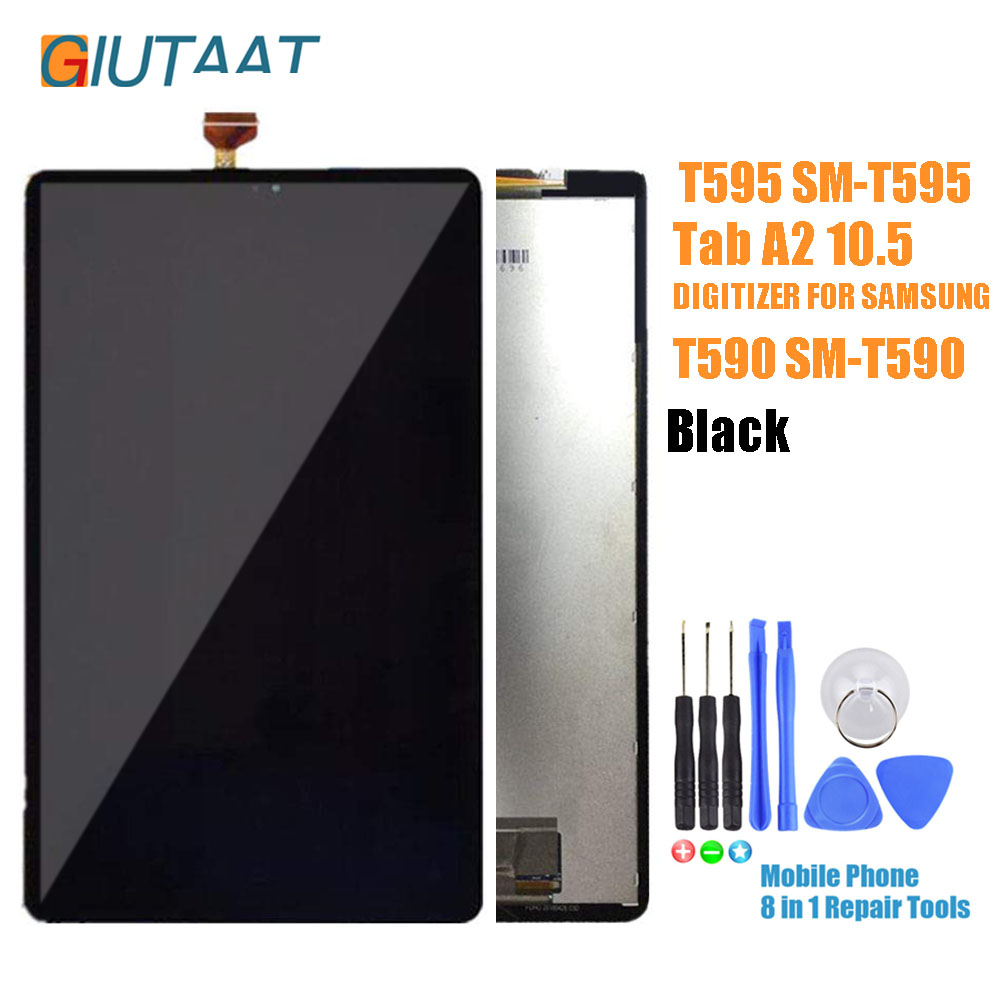 LCD Display For Samsung Galaxy Tab A2 10.5 T590 T595 SM-T590 SM-T595 Touch Screen Digitizer Sensor Matrix Assembly Replacement