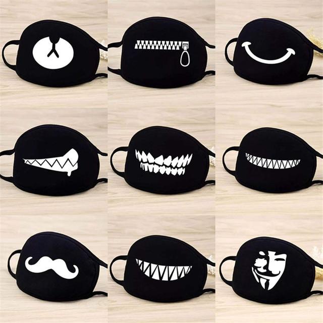 1pcs fashion Cotton face Masks Respirator Keep Warm Cartoon Cute Mask masks Washable Reusable Unisex