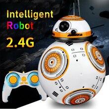 RC Robots BB8 Star Wars Big Ball 2.4G Remote Control Electric Sound Dancing Free