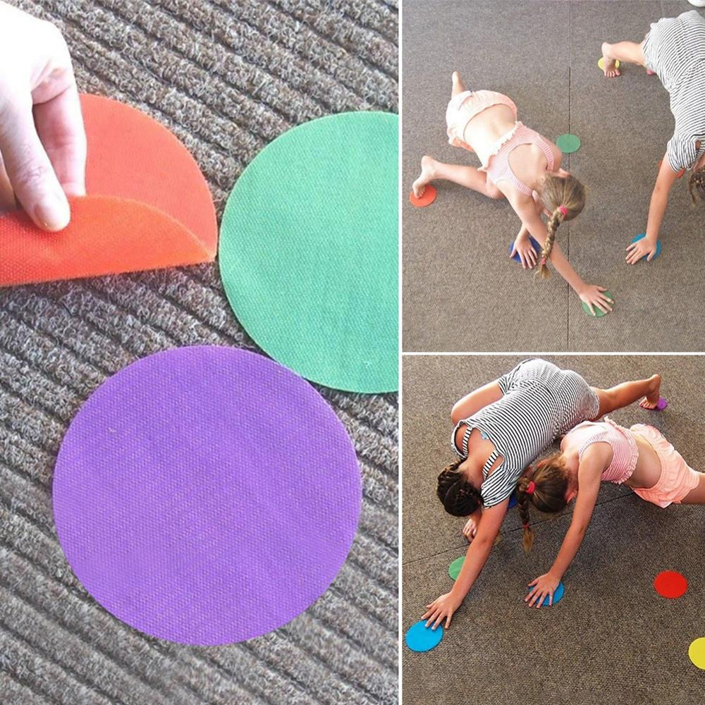 Funny Colorful Magic Sticker Flat Kindergarten Classroom  Preschool Training Tag Sticker Children Game Spot Markers Floor Sports