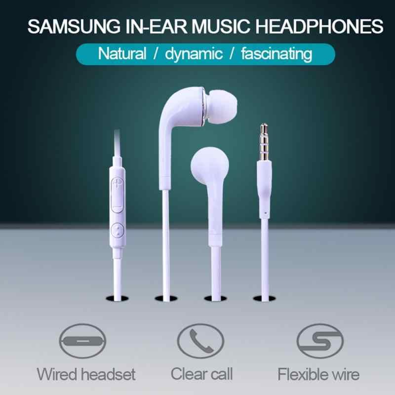 Baru Android Ponsel Earphone Kabel Sport Earbud dengan Mic Headset In-Ear untuk Samsung S4 Headset TSLM1